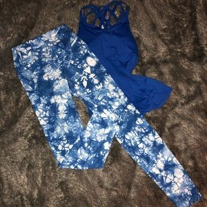 Wunder Unders, HR & full length, blue shibori